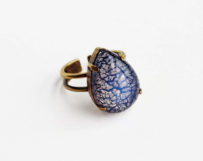 Purple Opal Ring Pastel Lilac Ring Vintage Harlequin Fire Opal Ring Lavender Victorian Opal Jewelry Pastel