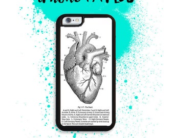 iPhone 7 or 7 PLUS Vintage Medical Anatomical Heart Phone Case