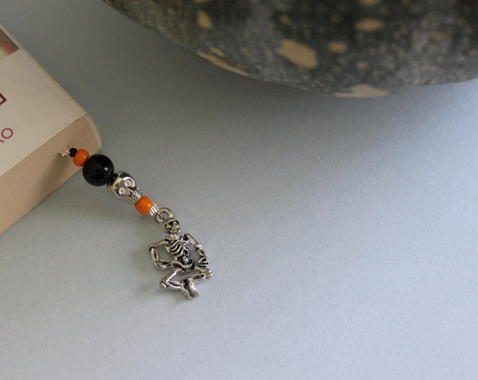 Halloween Themed Beaded Bookmark/ Book Thong.
