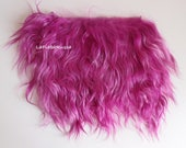 Magenta mohair locks doll hair goat pelt, simil Tibetan / mongolian fur, but more silky, lustry for any wig bjd dolls, reroot, lati