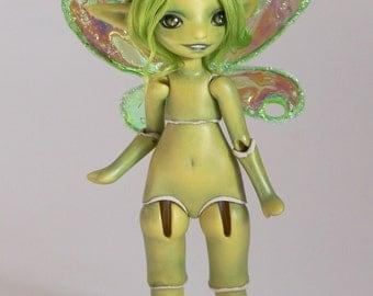 green fairy porcelain bjd art doll,  Meka 36/50 by ladymeow