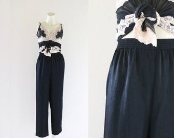 crinkle satin trousers / m