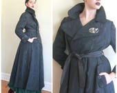 RESERVED FOR TODDY569 / Vintage 1960s Evening Coat Moire Waterfall Taffeta