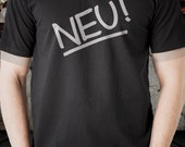 NEU!  t shirt short sleeve  Black tee t-shirt