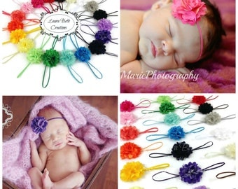 Baby Headband Set, Infant Headbands, You pick 8, Mini Satin Mesh Flower Headbands, Baby Headband, Newborn Headband, Children's Headband Set