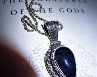 Treasures of the Gods - Violet Flame Tanzanite Spiritual Philosopher Stone - Rare INDIGO Blue Hue - Empath, Awaken, Akashic Records, Dreams
