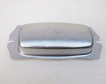 Vintage Butter Dish | Aluminum Butter Keeper | Chrome Butter Dish | Aluminum Butter Tray | Margarine Holder | Plastic Insert