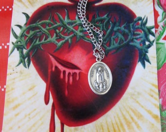 Vintage FATIMA Italian Pendant and Necklace- Protection that we all need daily