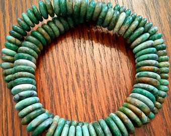 "SUMMER SALE ~Guatemalan Mayan Jade beads ""Yaáx Chich""  Necklace"