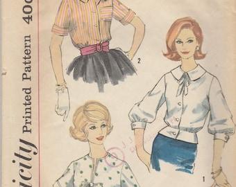 1950s Vintage Blouse Pattern Simplicity 3275 Size 16