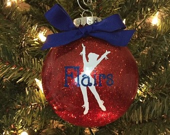Dance Team Christmas Ornament ~ Drill Team Christmas Ornament ~ Personalized Christmas Ornament ~ Glitter Christmas Ornament ~ Holiday Gift