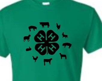 4-H Animal Shirt, 4-H Lovers, 4-H Shirts, Funny birthday shirt, LOL birthday shirt
