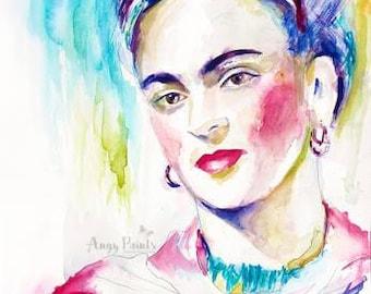 Frida Kahlo Art, Frida Kahlo Painting, Frida Kahlo Wall Art, Frida Kahlo Decor, Frida Art, Frida Painting, Frida Kahlo Watercolor