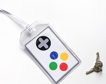 Gamer Luggage Tag, Gamer Gifts, Video Game Controller, Tech Gifts, Gamer Girl, Boyfriend Gift