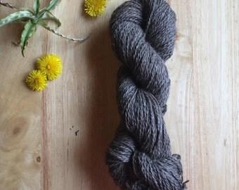Wool Mohair Yarn - Natural Dark Grey Wool mohair yarn - Un- dyed Worsted weight Yarn
