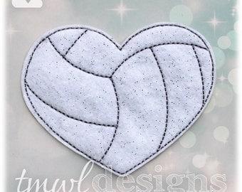 Volleyball Heart Slider Digital Design File