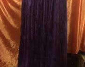 Gypsy Skirt-Royal Purple Crushed Velvet