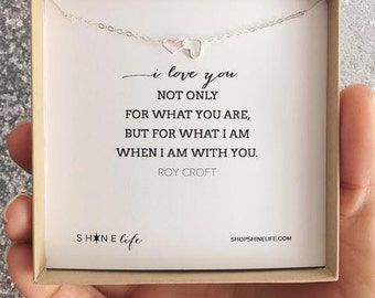 I Love You Necklace - heart necklace - mother jewelry - mama necklace - anniversary gift - friendship gift - wedding