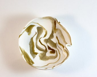 Gold Marble Trinket Dish