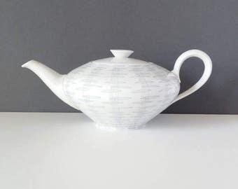White teapot, large white teapot, Bavarian teapot, European teapot, porcelain teapot