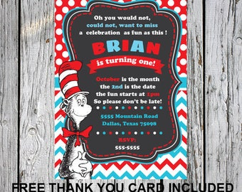Dr seuss birthday card gangcraft dr seuss birthday card cat in the hat invitation by parisgraphics birthday card bookmarktalkfo Choice Image