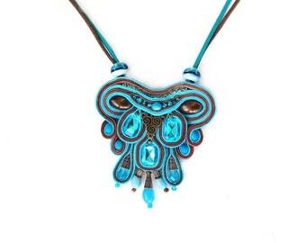 Soutache statement necklace - Big bold chunky - Oversized jewelry