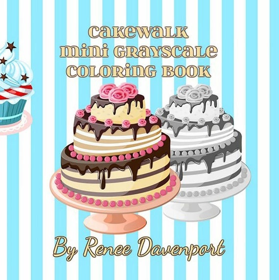 PDF Instant Download of Cakewalk Mini Grayscale Coloring Pages--30 Pages