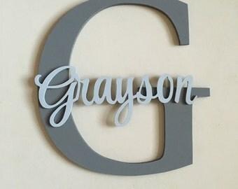 Large nursery letter, Nursery decor, Nursery wall decro, Nursery letters, Nursery wall hanging letters, nursery wall letters