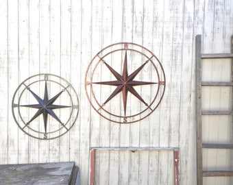 Nautical Compass, Metal Compass Wall Decor, Metal Wall Art, Nautical Decor, Wall Compass, Metal Compass Wall Art, Nautical Compass, Compass