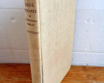 Vintage cookery book Basic Recipes M Sheppard Fidler 1950s illustrated hardback 1st edition cook book baking 304