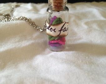 Disney Fairies glitter bottle necklace (Rosetta, Iridessa, Tinkerbell, Periwinkle, Vidia)