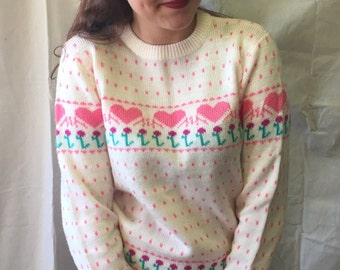 Vintage 80s Sweetheart Sweater