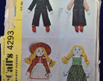Rag Doll Sewing Pattern - McCall's 4293