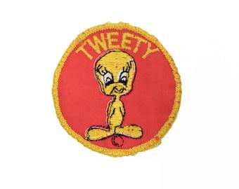 Vintage Tweety Bird Round Patch