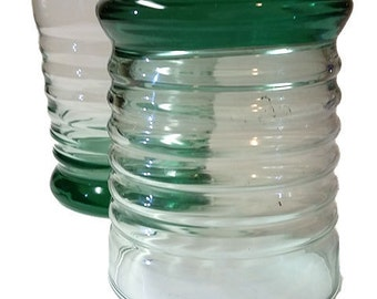 YARD SALE....Libbey Green Tint Rocks Glasses