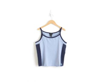 90s Tank Top Aesthetic Top Vaporwave Clothing Yoga Strap Top 90s Womens Tank Pastel Clothing Blue Tank Top 90s Shelf Bra Tank Womens Large