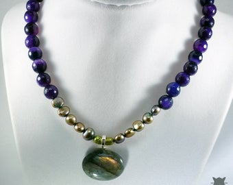 Labradorite Necklace, Labradorite Choker, Labradorite Jewelry, Natural Labradorite Necklace, Gifts for Her