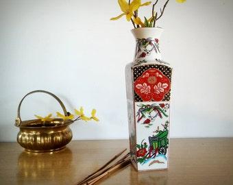 Japanese Vase, Vintage Vase, Made in Japan, Vintage, Home Decor, Japan Vase, Antique Vase,  Porcelain Vase, kutani, Gift for Her