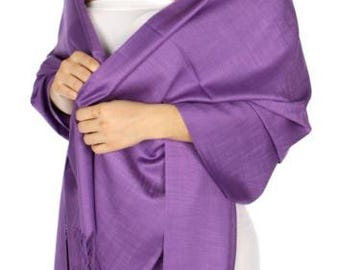 Royal purple wedding shawl - royal purple wedding pashmina - royal purple bridal shawl