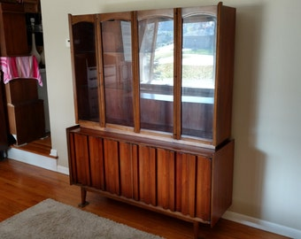 RESERVED FOR KELLY - Mid Cenury Lane First Edition Dining Cabinet / Bufffet / Sideboard / Hutch