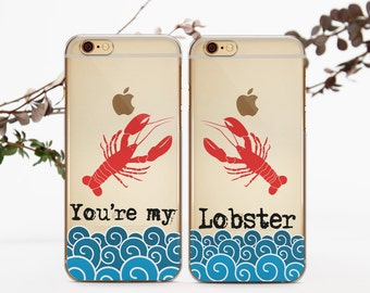 You Are My Lobster Phone Case Couple iPhone 7 Case iPhone 7 Plus Double Case Friends iPhone 6 Case iPhone 7 Case for Couple Couple Gift c001