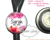 Stethoscope ID Tag, Personalized Watercolor Flowers, See Item Details Tab for Specific Models (Read Carefully), Littmann Stethoscope ID Tag