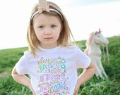 Play with Fairies, Ride a Unicorn, Swim with Mermaids, Chase Rainbows T Shirt, Girls T Shirt, Toddler Shirt, Girls Unicorn Shirt, Infant Top
