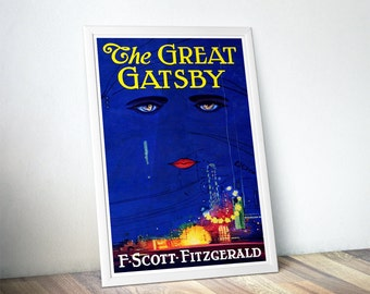 Great Gatsby Poster - Best Selling Items / Gift for Book Lovers Gift / Literary Gifts / Girlfriend Gift Idea / Home Decor
