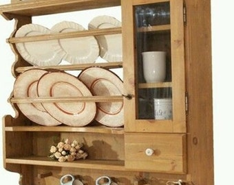 plate rack with drawer in style