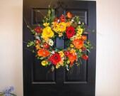 spring wreath Mother's Day wreaths for front door wreaths summer decorations outdoor front door wreaths