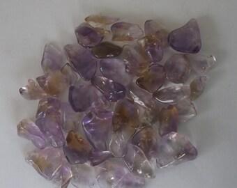 Bolivian Ametrine/ 3.9 ounce Lot of polished Ametrine a with Black Velvet Medicine Bag/ Free Domestic Shipping