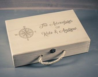 Adventure Keepsake Box, Travel Keepsake Box, Memory Box