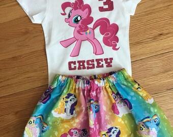 Pinkie Pie Birthday Outfit, My Little Pony outfit, my little pony birthday, my little pony shirt, pinkie pie, my little pony