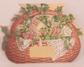 NEW! Vintage Happy Birthday Wife by DaySpring Card. 1 Card and Envelope.